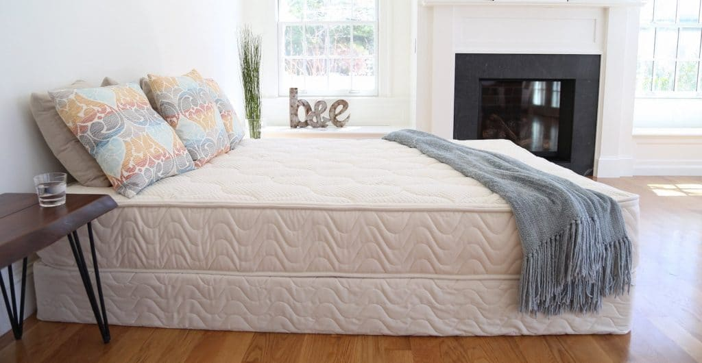 Spindle natural latex mattress in bedroom