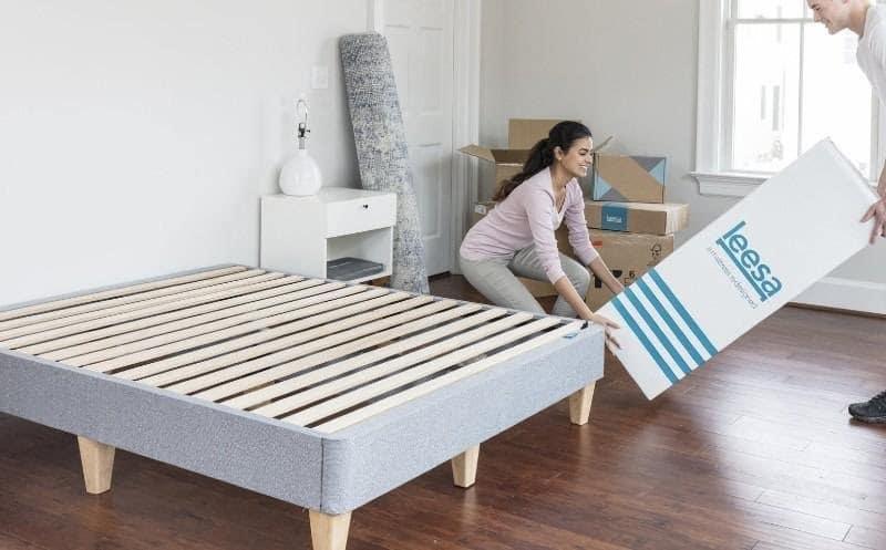 leesa mattress shipping in a box