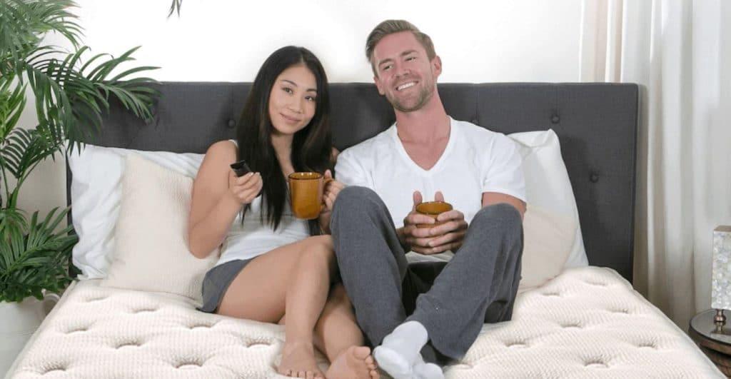 couple on eco terra mattress