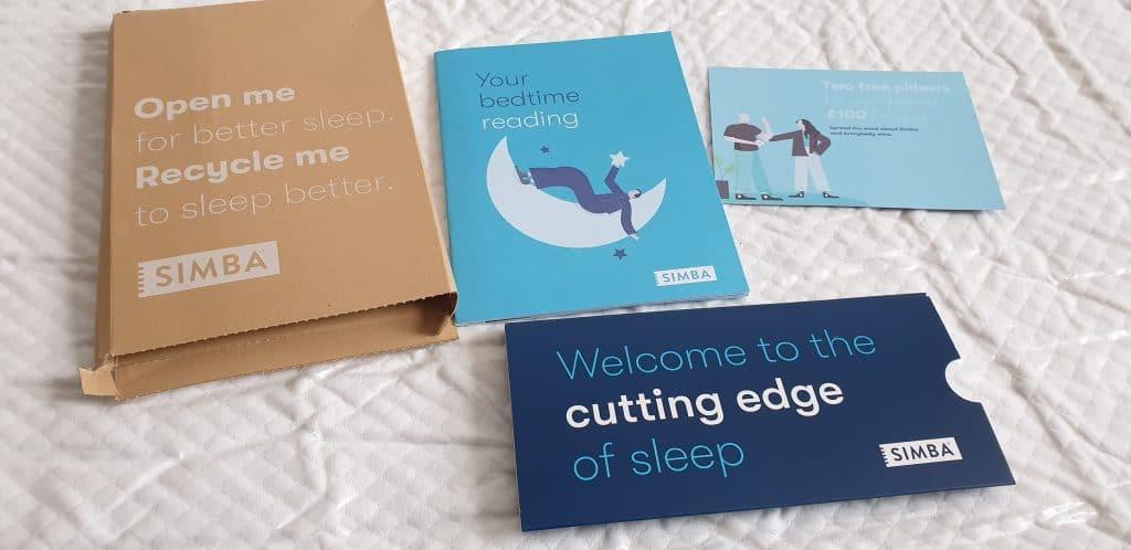 Simba Pro mattress box contents