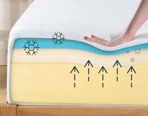 Zinus gel infused green tea mattress